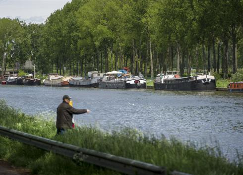 The southern part of the Canal, in Anderlecht.  © SAU-MSI/Reporters
