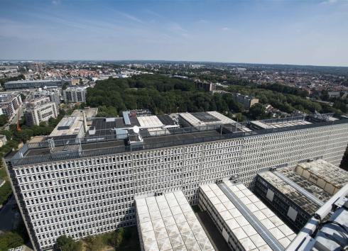 A view of the Reyers RTBF-VRT site from the broadcasting tower.  © SAU-MSI/Reporters