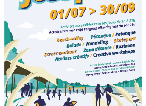 Second edition of temporary park 'Summer at Josaphat' starts on 1 July