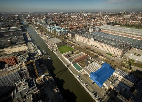 The site of the future integrated centre for vulnerable drug users.  © sau-msi.brussels (Reporters)