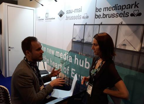 On the right, Isabelle Grippa, the CEO of hub.brussels. © hub.brussels