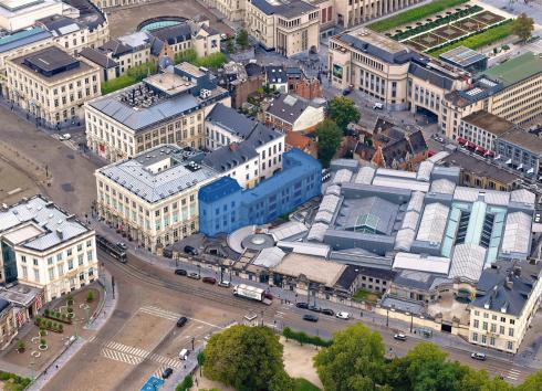 Aerial view of the future site of 'LE CHAT cartoon museum'. © sau-msi.brussels (Simon Schmitt - Globalview)
