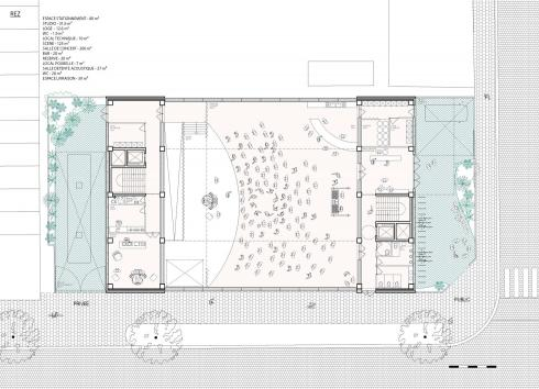 Plan of the future building's ground floor. © Central
