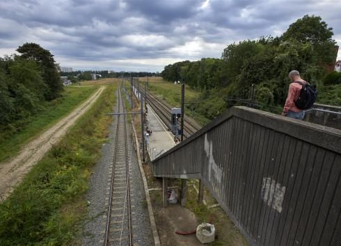 The site of the former Josaphat railway station seen from the Evere stop. © SAU-MSI/Reporters